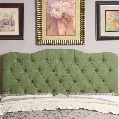 Elian Tufted Upholstered Panel Headboard Size: Twin, Upholstery: Natural Olive