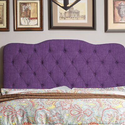 Elian Tufted Upholstered Panel Headboard Size: Twin, Upholstery: Radiant Violet