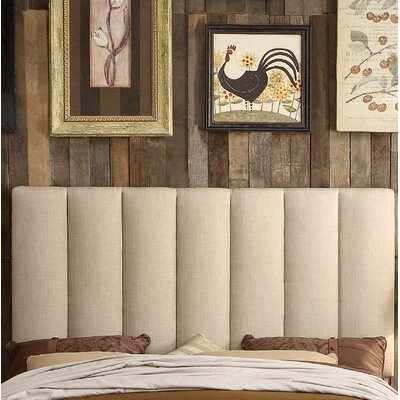Mcmaster Queen Upholstered Panel Headboard Upholstery: Beige