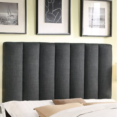 Mcmaster Queen Upholstered Panel Headboard Upholstery: Charcoal