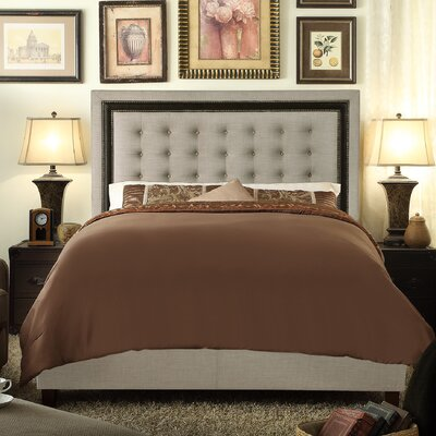 Rawley Queen Upholstered Panel Bed Color: Beige