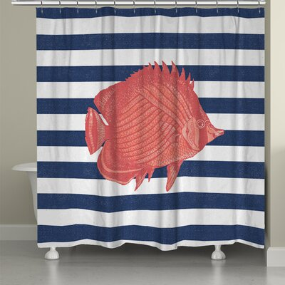 Fish Stripe Shower Curtain