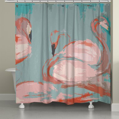 Flamingos Shower Curtain FLA74SC