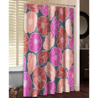 Lace Poppies Shower Curtain