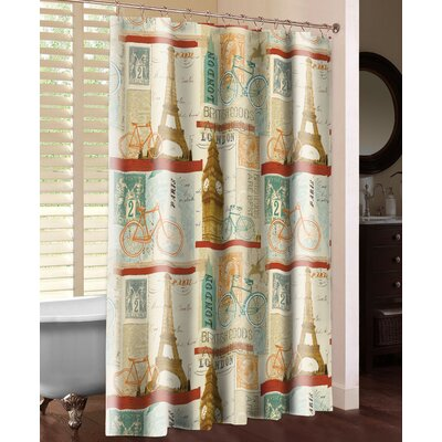 Postcard from Europe Shower Curtain
