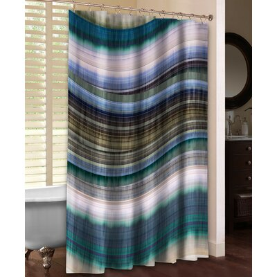 Rumba I Shower Curtain Color: Blue