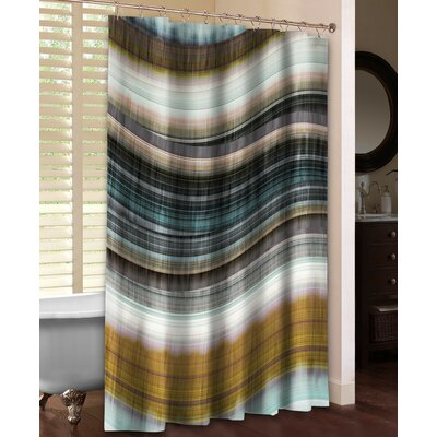 Rumba I Shower Curtain Color: Brown