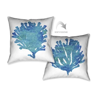 Aquamarine Coral Throw Pillow
