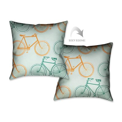 Postcard from Europe Bikes Throw Pillow