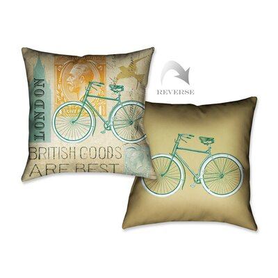 Postcard from London I Throw Pillow