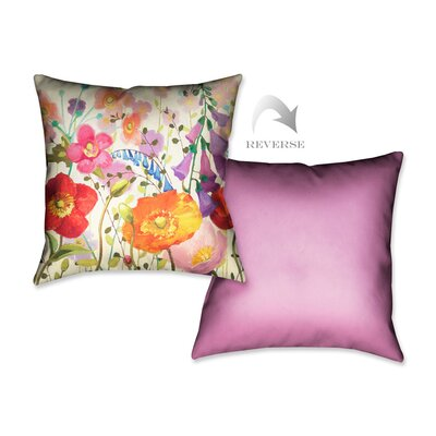 Couleur Printempts III Throw Pillow