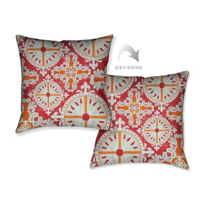 Medieval Persimmon I Throw Pillow