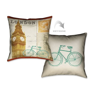 Postcard from London II Throw Pillow