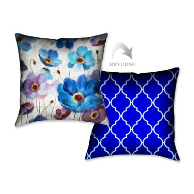 Bold Anemones I Throw Pillow