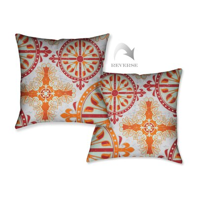 Medieval Persimmon II Throw Pillow