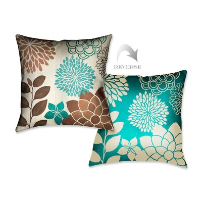 Abstract Garden I Throw Pillow