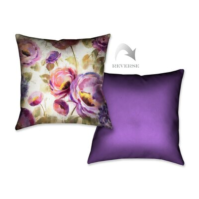Flower Song II Throw Pillow