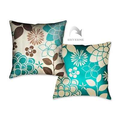 Abstract Garden II Throw Pillow