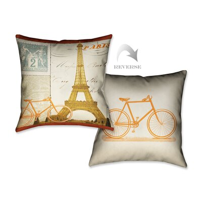 Postcard from Paris II Throw Pillow