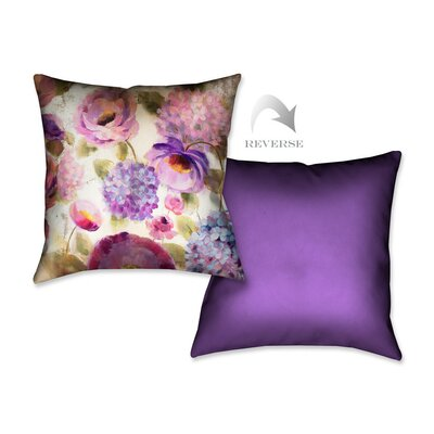 Flower Song III Throw Pillow