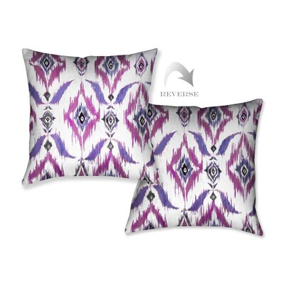 Purple Ikat Throw Pillow