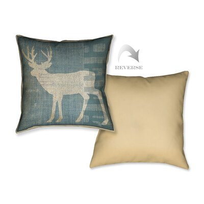 Lodge Deer Throw Pillow