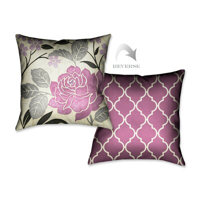 Perfect Petals II Throw Pillow Color: Lavender