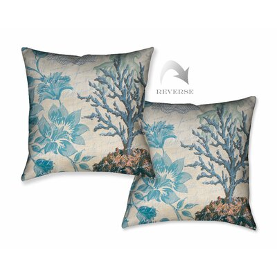 Floral Coral Throw Pillow