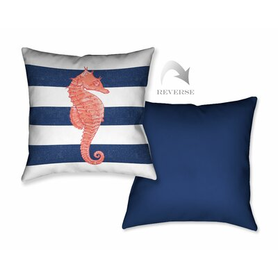 Seahorse Stripe Throw Pillow