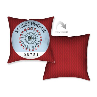 Seaside Heights I Throw Pillow
