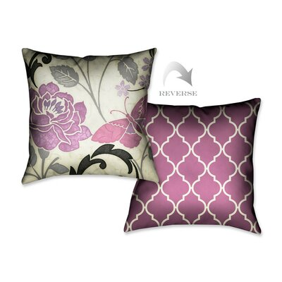 Perfect Petals I Throw Pillow Color: Lavender