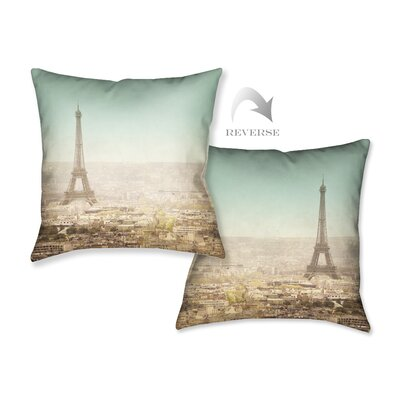 Eiffel Tower Landscape Throw Pillow