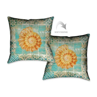 Shell Tiles I Throw Pillow
