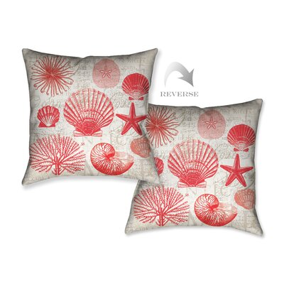 Red Shells I Throw Pillow