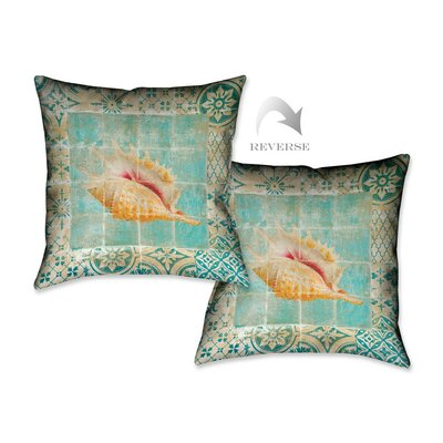 Shell Tiles II Throw Pillow