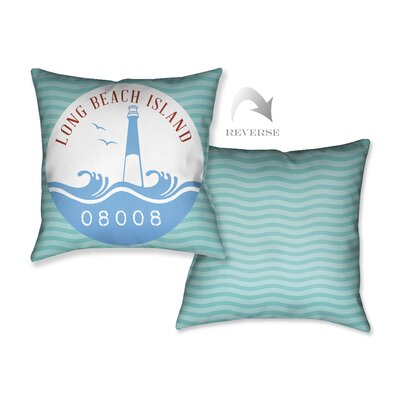 Long Beach Island Throw Pillow