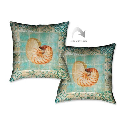 Shells Tiles III Throw Pillow