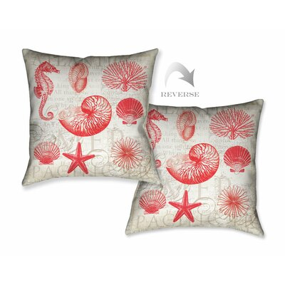Red Shells II Throw Pillow