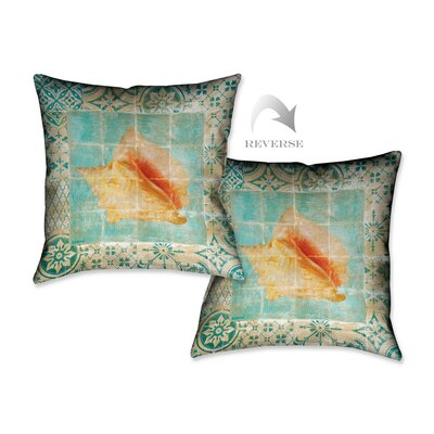Shell Tiles IV Throw Pillow