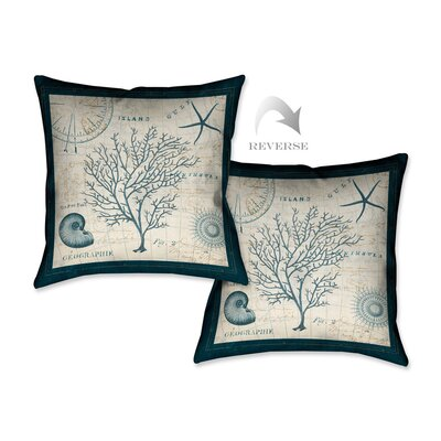 Ocean Life IV Throw Pillow OLIV18X18DP