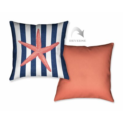 Starfish Stripe Throw Pillow