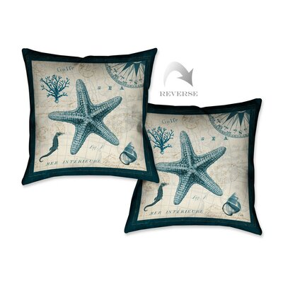 Ocean Life V Throw Pillow