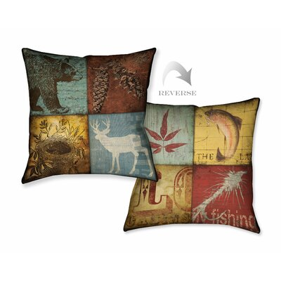 Lodge 4 Patch Throw Pillow