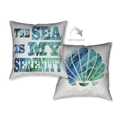 Sea Serenity Throw Pillow