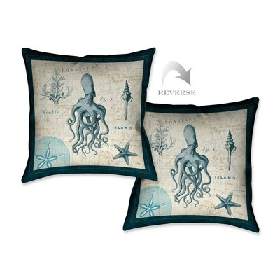 Ocean Life VII Throw Pillow