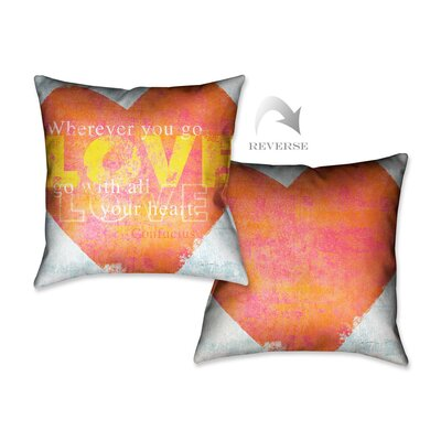 Letterpress Love Throw Pillow