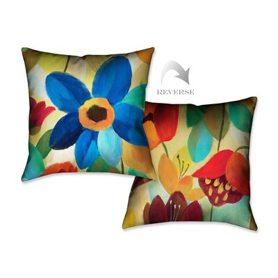 Summer Floral I Throw Pillow