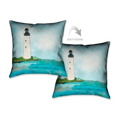 Coastal Notes II Throw Pillow