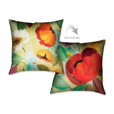 Summer Floral II Throw Pillow