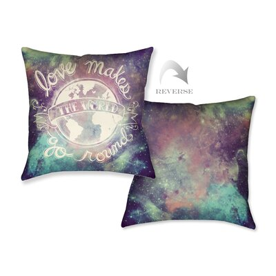 Universe Galaxy Throw Pillow